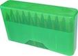 Case-Gard Rifle Ammo Slip Top Holder - Clear Green