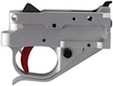 Timney Trigger Group - Ruger 10/22 - Silver with Red Trigger